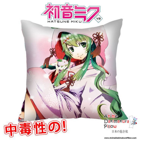 New Hatsune Miku - Vocaloid 40x40cm Square Anime Dakimakura Waifu Throw Pillow Cover GZFONG104 - Anime Dakimakura Pillow Shop | Fast, Free Shipping, Dakimakura Pillow & Cover shop, pillow For sale, Dakimakura Japan Store, Buy Custom Hugging Pillow Cover - 1