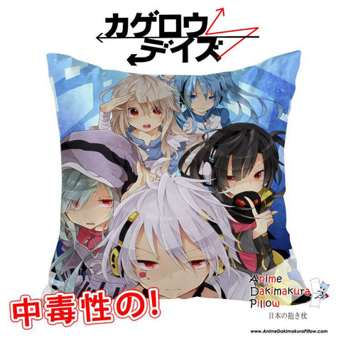 New Kagerou Project 40x40cm Square Anime Dakimakura Waifu Throw Pillow Cover GZFONG106 - Anime Dakimakura Pillow Shop | Fast, Free Shipping, Dakimakura Pillow & Cover shop, pillow For sale, Dakimakura Japan Store, Buy Custom Hugging Pillow Cover - 1