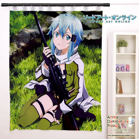 New Sinon - Sword Art Online Anime Japanese Window Curtain Door Entrance Room Partition H0106 - Anime Dakimakura Pillow Shop | Fast, Free Shipping, Dakimakura Pillow & Cover shop, pillow For sale, Dakimakura Japan Store, Buy Custom Hugging Pillow Cover - 1