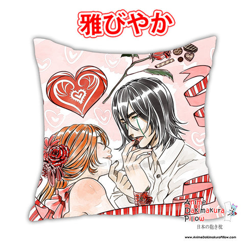 New Ulquiorra x Orihime - Bleach Anime Dakimakura Japanese Square Pillow Cover Custom Designer ElyonBlackStar ADC478 - Anime Dakimakura Pillow Shop | Fast, Free Shipping, Dakimakura Pillow & Cover shop, pillow For sale, Dakimakura Japan Store, Buy Custom Hugging Pillow Cover - 1