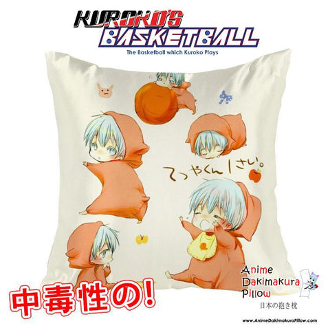 New Kuroko no Basket 40x40cm Square Anime Dakimakura Waifu Throw Pillow Cover GZFONG114 - Anime Dakimakura Pillow Shop | Fast, Free Shipping, Dakimakura Pillow & Cover shop, pillow For sale, Dakimakura Japan Store, Buy Custom Hugging Pillow Cover - 1