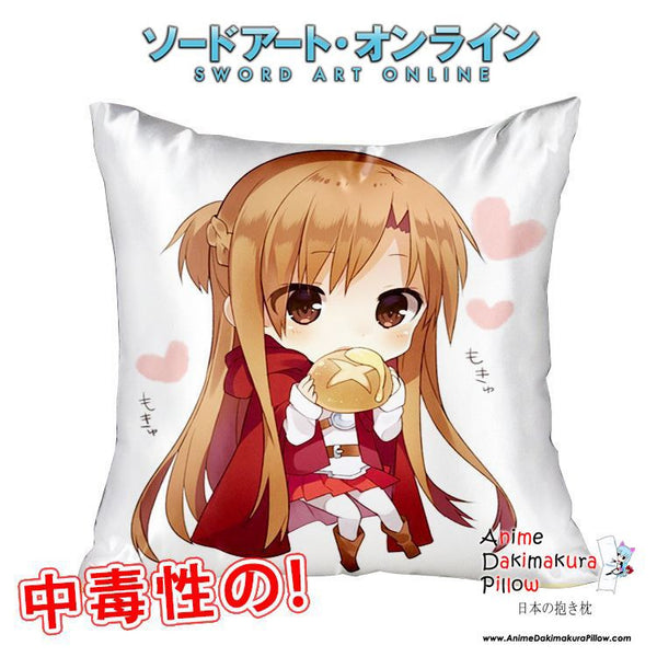 New Asuna - Sword Art Online 40x40cm Square Anime Dakimakura Waifu Throw Pillow Cover GZFONG116 - Anime Dakimakura Pillow Shop | Fast, Free Shipping, Dakimakura Pillow & Cover shop, pillow For sale, Dakimakura Japan Store, Buy Custom Hugging Pillow Cover - 1