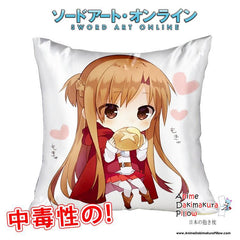New Asuna - Sword Art Online 40x40cm Square Anime Dakimakura Waifu Throw Pillow Cover GZFONG116