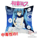 New Hatsune Miku - Vocaloid 40x40cm Square Anime Dakimakura Waifu Throw Pillow Cover GZFONG119 - Anime Dakimakura Pillow Shop | Fast, Free Shipping, Dakimakura Pillow & Cover shop, pillow For sale, Dakimakura Japan Store, Buy Custom Hugging Pillow Cover - 1
