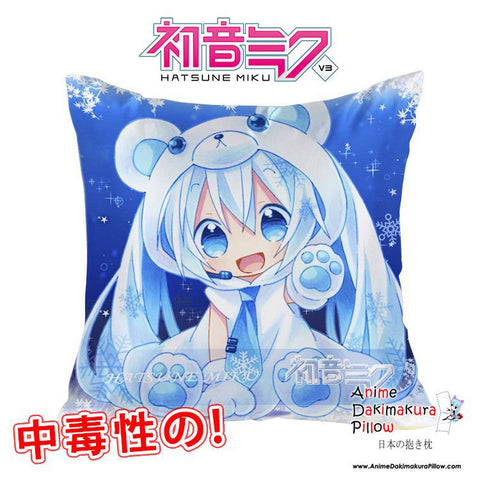 New Hatsune Miku - Vocaloid 40x40cm Square Anime Dakimakura Waifu Throw Pillow Cover GZFONG122 - Anime Dakimakura Pillow Shop | Fast, Free Shipping, Dakimakura Pillow & Cover shop, pillow For sale, Dakimakura Japan Store, Buy Custom Hugging Pillow Cover - 1