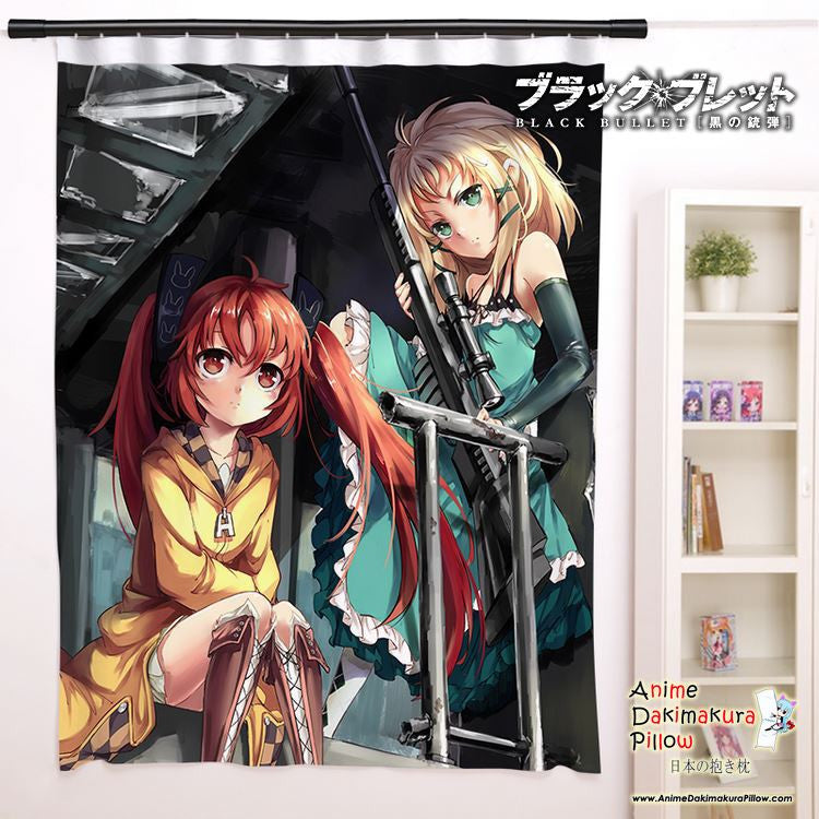 New Black Bullet Anime Japanese Window Curtain Door Entrance Room Partition H0128
