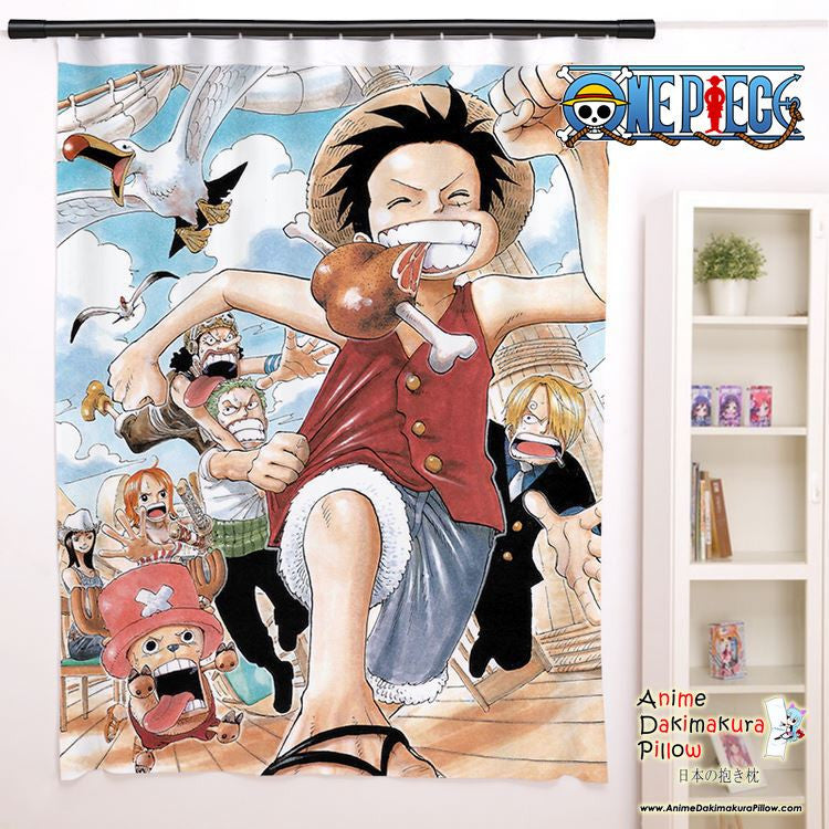 New One Piece Anime Japanese Window Curtain Door Entrance Room Partition H0129