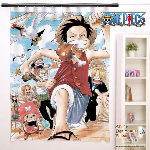 New One Piece Anime Japanese Window Curtain Door Entrance Room Partition H0129 - Anime Dakimakura Pillow Shop | Fast, Free Shipping, Dakimakura Pillow & Cover shop, pillow For sale, Dakimakura Japan Store, Buy Custom Hugging Pillow Cover - 1