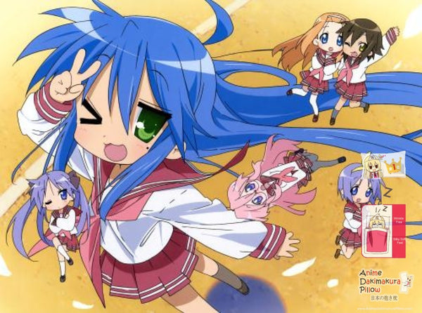 New Lucky Star Japanese Anime Bed Blanket Cover or Duvet Cover Blanket 12