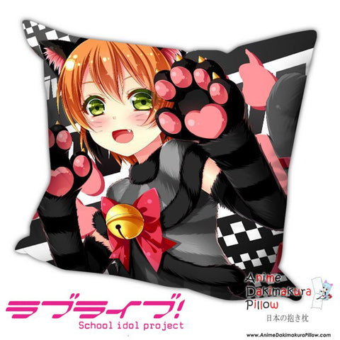 New Rin Hoshizora - Love Live Anime Dakimakura Square Pillow Cover H012 - Anime Dakimakura Pillow Shop | Fast, Free Shipping, Dakimakura Pillow & Cover shop, pillow For sale, Dakimakura Japan Store, Buy Custom Hugging Pillow Cover - 1