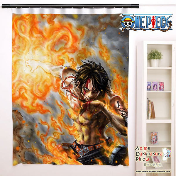 New Ace - One Piece Anime Japanese Window Curtain Door Entrance Room Partition H0131 - Anime Dakimakura Pillow Shop | Fast, Free Shipping, Dakimakura Pillow & Cover shop, pillow For sale, Dakimakura Japan Store, Buy Custom Hugging Pillow Cover - 1