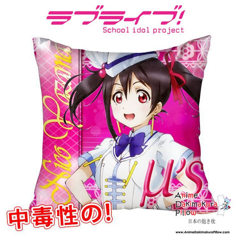 New Nico Yazawa - Love Live 40x40cm Square Anime Dakimakura Waifu Throw Pillow Cover GZFONG133 - Anime Dakimakura Pillow Shop | Fast, Free Shipping, Dakimakura Pillow & Cover shop, pillow For sale, Dakimakura Japan Store, Buy Custom Hugging Pillow Cover - 1