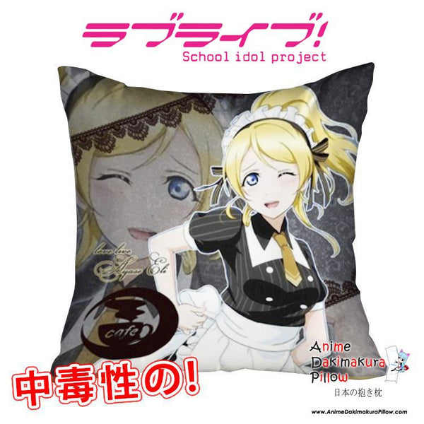 New Ayase Eli - Love Live 40x40cm Square Anime Dakimakura Waifu Throw Pillow Cover GZFONG134