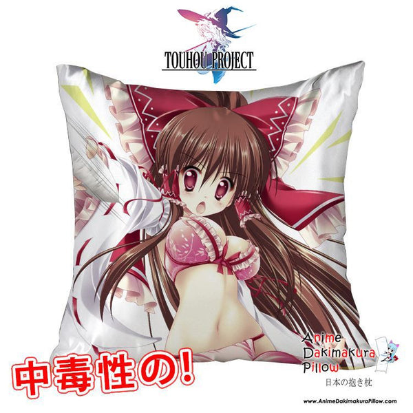 New Touhou Project 40x40cm Square Anime Dakimakura Waifu Throw Pillow Cover GZFONG137 - Anime Dakimakura Pillow Shop | Fast, Free Shipping, Dakimakura Pillow & Cover shop, pillow For sale, Dakimakura Japan Store, Buy Custom Hugging Pillow Cover - 1