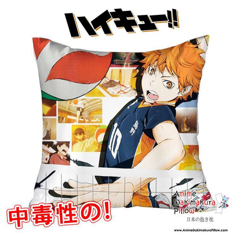 New Hinata Shouyou - Haikyuu 40x40cm Square Anime Dakimakura Waifu Throw Pillow Cover GZFONG144 - Anime Dakimakura Pillow Shop | Fast, Free Shipping, Dakimakura Pillow & Cover shop, pillow For sale, Dakimakura Japan Store, Buy Custom Hugging Pillow Cover - 1