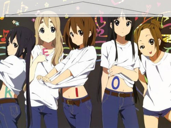 K-On Japanese Anime Wall Scroll Poster and Banner 14 - Anime Dakimakura Pillow Shop | Fast, Free Shipping, Dakimakura Pillow & Cover shop, pillow For sale, Dakimakura Japan Store, Buy Custom Hugging Pillow Cover - 1