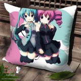New Hatsune Miku and Teto Kasane - Vocaloid Anime Dakimakura Square Pillow Cover SPC151 - Anime Dakimakura Pillow Shop | Fast, Free Shipping, Dakimakura Pillow & Cover shop, pillow For sale, Dakimakura Japan Store, Buy Custom Hugging Pillow Cover - 1