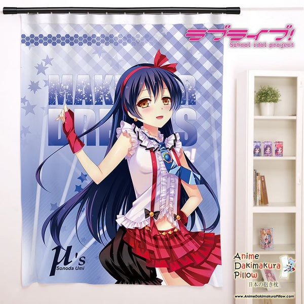 New Sonoda Umi - Love Live Anime Japanese Window Curtain Door Entrance Room Partition H0154 - Anime Dakimakura Pillow Shop | Fast, Free Shipping, Dakimakura Pillow & Cover shop, pillow For sale, Dakimakura Japan Store, Buy Custom Hugging Pillow Cover - 1