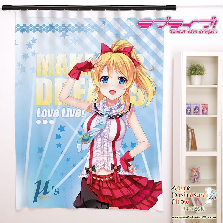 New Ayase Eli - Love Live Anime Japanese Window Curtain Door Entrance Room Partition H0157