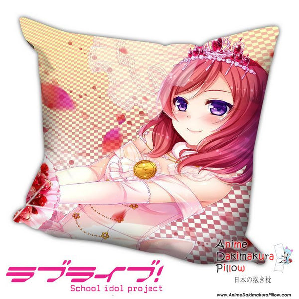 New Nishikino Maki - Love Live Anime Dakimakura Square Pillow Cover H015 - Anime Dakimakura Pillow Shop | Fast, Free Shipping, Dakimakura Pillow & Cover shop, pillow For sale, Dakimakura Japan Store, Buy Custom Hugging Pillow Cover - 1