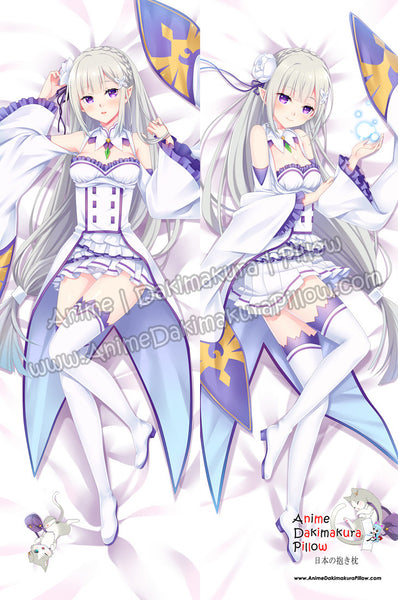 New Emilia -Re Zero Anime Dakimakura Japanese Hugging Body Pillow Cover ADP-16214B