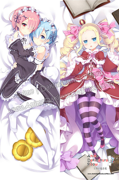 New Beatrice - Re Zero Rem and Ram -  Re Zero Anime Dakimakura Japanese Hugging Body Pillow Cover ADP-16219B ADP-16218B - Anime Dakimakura Pillow Shop | Fast, Free Shipping, Dakimakura Pillow & Cover shop, pillow For sale, Dakimakura Japan Store, Buy Custom Hugging Pillow Cover - 1