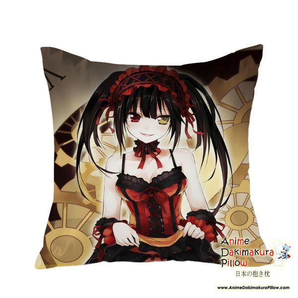 New Kurumi Tokisaki - Date a Live Anime Dakimakura Square Pillow Cover GZFONG16 - Anime Dakimakura Pillow Shop | Fast, Free Shipping, Dakimakura Pillow & Cover shop, pillow For sale, Dakimakura Japan Store, Buy Custom Hugging Pillow Cover - 1