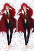 New Grell Sutcliff - Black Butler Anime Dakimakura Japanese Pillow Cover Custom Designer Yoko-Darkpaw ADC43 - Anime Dakimakura Pillow Shop | Fast, Free Shipping, Dakimakura Pillow & Cover shop, pillow For sale, Dakimakura Japan Store, Buy Custom Hugging Pillow Cover - 1