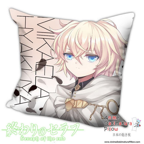New Mikaela Hyakuya - Owari no Seraph Anime Dakimakura Square Pillow Cover H016 - Anime Dakimakura Pillow Shop | Fast, Free Shipping, Dakimakura Pillow & Cover shop, pillow For sale, Dakimakura Japan Store, Buy Custom Hugging Pillow Cover - 1