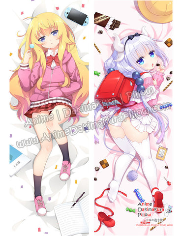 New-Gabriel-White-Tenma-Gabriel-DropOut-and-Kanna-Kamui-Miss-Kobayashi's-Dragon-Maid-Anime-Dakimakura-Japanese-Hugging-Body-Pillow-Cover-ADP17011-B-ADP17012-B