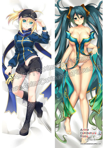 New Saber Mysterious Heroine X - Fate and Sona - League of Legends Anime Dakimakura Japanese Hugging Body Pillow Cover ADP17045-B ADP76074
