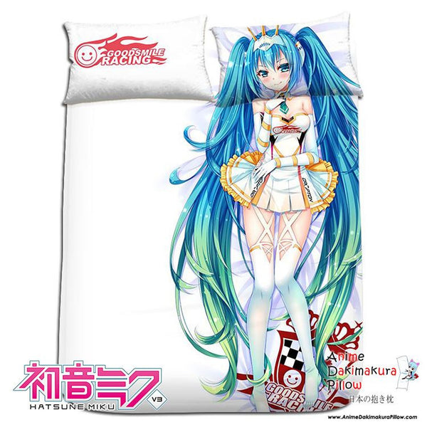 New Hatsune Miku - Vocaloid Japanese Anime Bed Blanket or Duvet Cover with Pillow Covers H0172 - Anime Dakimakura Pillow Shop | Fast, Free Shipping, Dakimakura Pillow & Cover shop, pillow For sale, Dakimakura Japan Store, Buy Custom Hugging Pillow Cover - 1