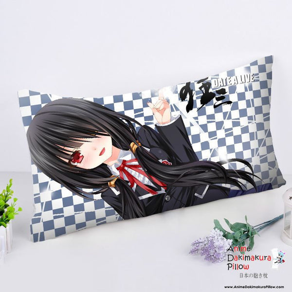 New Kurumi Tokisaki - Date a Live Anime Dakimakura Rectangle Pillow Cover RPC173 - Anime Dakimakura Pillow Shop | Fast, Free Shipping, Dakimakura Pillow & Cover shop, pillow For sale, Dakimakura Japan Store, Buy Custom Hugging Pillow Cover - 1