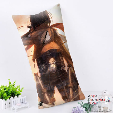 New Mikasa - Attack on Titan Anime Dakimakura Rectangle Pillow Cover RPC175 - Anime Dakimakura Pillow Shop | Fast, Free Shipping, Dakimakura Pillow & Cover shop, pillow For sale, Dakimakura Japan Store, Buy Custom Hugging Pillow Cover - 1