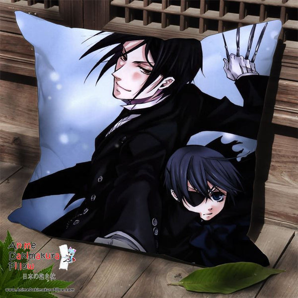 New Kuroshitsuji Anime Dakimakura Square Pillow Cover SPC179 - Anime Dakimakura Pillow Shop | Fast, Free Shipping, Dakimakura Pillow & Cover shop, pillow For sale, Dakimakura Japan Store, Buy Custom Hugging Pillow Cover - 1