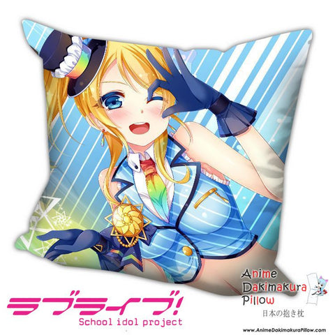 New Ayase Eli - Love Live Anime Dakimakura Square Pillow Cover H017 - Anime Dakimakura Pillow Shop | Fast, Free Shipping, Dakimakura Pillow & Cover shop, pillow For sale, Dakimakura Japan Store, Buy Custom Hugging Pillow Cover - 1