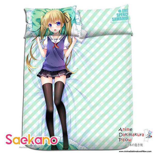 New Eriri Spencer - SaeKano Japanese Anime Bed Blanket or Duvet Cover with Pillow Covers H0182 - Anime Dakimakura Pillow Shop | Fast, Free Shipping, Dakimakura Pillow & Cover shop, pillow For sale, Dakimakura Japan Store, Buy Custom Hugging Pillow Cover - 1