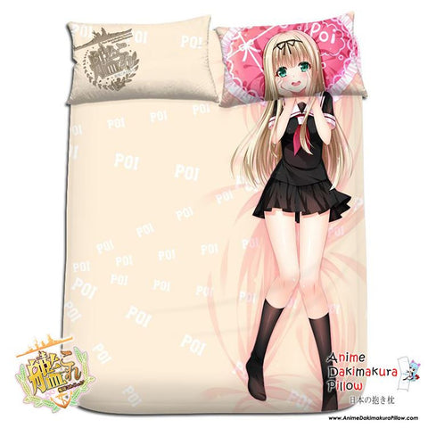 New Yuudachi - Kantai Collection Japanese Anime Bed Blanket or Duvet Cover with Pillow Covers H0186 - Anime Dakimakura Pillow Shop | Fast, Free Shipping, Dakimakura Pillow & Cover shop, pillow For sale, Dakimakura Japan Store, Buy Custom Hugging Pillow Cover - 1