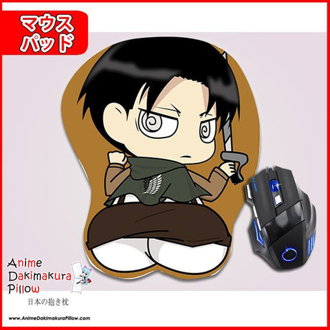 New Levi Ackerman - Attack on Titan Anime Ergonomic 3D Mouse Pad Sexy Butt Wrist Rest Oppai GZFONG MP1 - Anime Dakimakura Pillow Shop | Fast, Free Shipping, Dakimakura Pillow & Cover shop, pillow For sale, Dakimakura Japan Store, Buy Custom Hugging Pillow Cover - 1