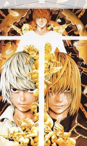 Death Note Japanese Anime Wall Scroll Poster and Banner 1 - Anime Dakimakura Pillow Shop | Fast, Free Shipping, Dakimakura Pillow & Cover shop, pillow For sale, Dakimakura Japan Store, Buy Custom Hugging Pillow Cover - 1