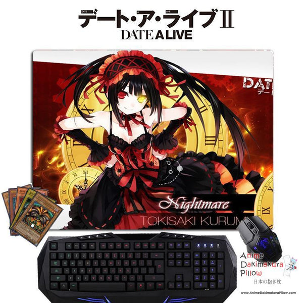 New Kurumi Tokisaki - Date a Live Anime Gaming Mouse Pad Deluxe Multipurpose Playmat GZFONG-P01 - Anime Dakimakura Pillow Shop | Fast, Free Shipping, Dakimakura Pillow & Cover shop, pillow For sale, Dakimakura Japan Store, Buy Custom Hugging Pillow Cover - 1