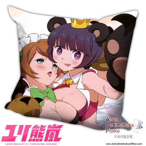 New Love Bullet Yuri Kuma Arashi Anime Dakimakura Square Pillow Cover H001 - Anime Dakimakura Pillow Shop | Fast, Free Shipping, Dakimakura Pillow & Cover shop, pillow For sale, Dakimakura Japan Store, Buy Custom Hugging Pillow Cover - 1
