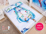 New Hatsune Miku - Vocaloid Japanese Anime Bed Blanket or Duvet Cover with Pillow Covers H0184 - Anime Dakimakura Pillow Shop | Fast, Free Shipping, Dakimakura Pillow & Cover shop, pillow For sale, Dakimakura Japan Store, Buy Custom Hugging Pillow Cover - 2