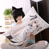 New Yatogami Tohka - Date a Live Anime Dakimakura 45 x 75cm Rectangle Pillow Cover GZFONG493 - Anime Dakimakura Pillow Shop | Fast, Free Shipping, Dakimakura Pillow & Cover shop, pillow For sale, Dakimakura Japan Store, Buy Custom Hugging Pillow Cover - 2