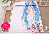 New Hatsune Miku - Vocaloid Japanese Anime Bed Blanket or Duvet Cover with Pillow Covers H0172 - Anime Dakimakura Pillow Shop | Fast, Free Shipping, Dakimakura Pillow & Cover shop, pillow For sale, Dakimakura Japan Store, Buy Custom Hugging Pillow Cover - 6
