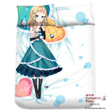 New Tina Sprout - Black Bullet Japanese Anime Bed Blanket or Duvet Cover with Pillow Covers Blanket 2 - Anime Dakimakura Pillow Shop | Fast, Free Shipping, Dakimakura Pillow & Cover shop, pillow For sale, Dakimakura Japan Store, Buy Custom Hugging Pillow Cover - 2