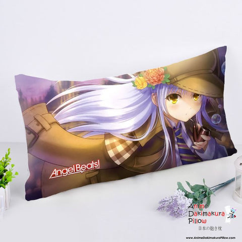 New Angel Beats Anime Dakimakura Rectangle Pillow Cover RPC202 - Anime Dakimakura Pillow Shop | Fast, Free Shipping, Dakimakura Pillow & Cover shop, pillow For sale, Dakimakura Japan Store, Buy Custom Hugging Pillow Cover - 1