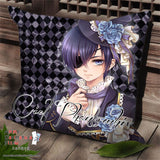 New Kuroshitsuji Anime Dakimakura Square Pillow Cover SPC204 - Anime Dakimakura Pillow Shop | Fast, Free Shipping, Dakimakura Pillow & Cover shop, pillow For sale, Dakimakura Japan Store, Buy Custom Hugging Pillow Cover - 1