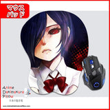 New Touka Kirishima - Tokyo Ghoul Anime Ergonomic 3D Mouse Pad Sexy Butt Wrist Rest Oppai GZFONG MP21 - Anime Dakimakura Pillow Shop | Fast, Free Shipping, Dakimakura Pillow & Cover shop, pillow For sale, Dakimakura Japan Store, Buy Custom Hugging Pillow Cover - 1