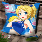 New Ayase Eli - Love Live Anime Dakimakura Square Pillow Cover SPC224 - Anime Dakimakura Pillow Shop | Fast, Free Shipping, Dakimakura Pillow & Cover shop, pillow For sale, Dakimakura Japan Store, Buy Custom Hugging Pillow Cover - 1